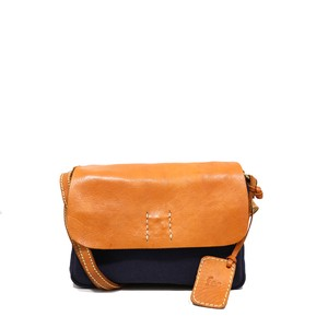 Canvas Material Leather Shoulder Bag