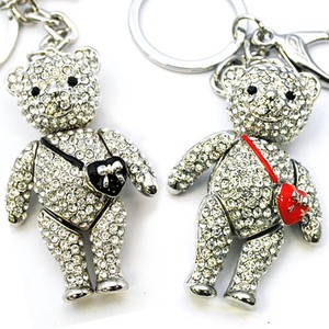 Glitter bear Key Ring Bag Charm