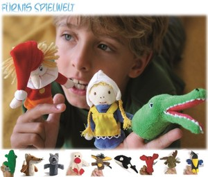 【 FURNIS SPIELWELT】 ANIMAL FINGER PUPPET - hand made in Austria