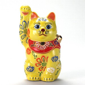 KUTANI Ware Size 4 Welcoming Cat Ornament