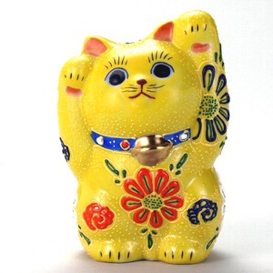 KUTANI Ware Size 4 Both Hands Welcoming Cat Ornament