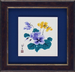 KUTANI Ware Ceramic Frame Pansy Glass None