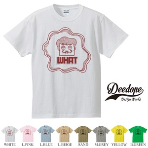 "【DEEDOPE】 ""WHAT "" 半袖 プリント Tシャツ"