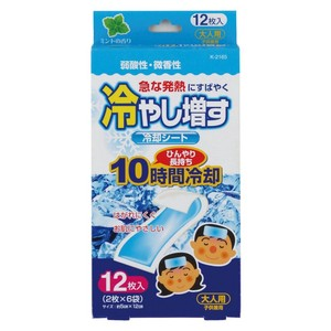 Hiyashimasu Cooling Patch 12 Pcs For adults Mint Aroma