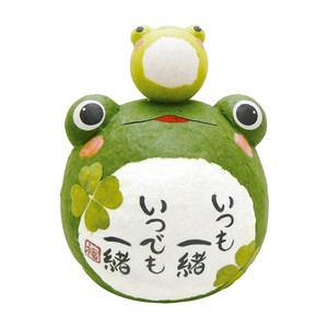 Chigiri Japanese Paper Plump parent and child Frog Ornament