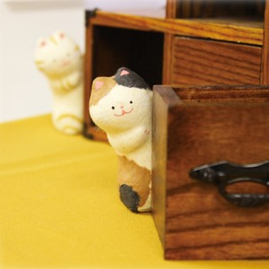 Chigiri Japanese Paper Peeping Cat Ornament