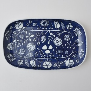 Flower Parade Plate Blue HASAMI Ware 15cm