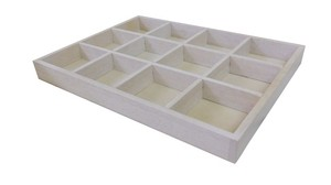 Rubber Wood Flat Collection Box White Vietnam Natural Taste