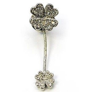 Glitter pin Brooch Four Leaves Clover Gift