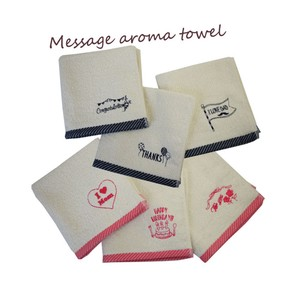 Natural Aroma Aroma Attached Towel Message Embroidery Present