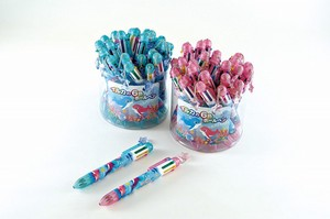 Stationery Dolphin 6 Colors Ballpoint Pen Star Parts Attached Blue