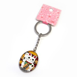 Japanese Style Japanese Pattern Sten Key Ring Beckoning cat