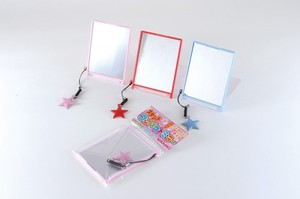Compact Stand Alone Mirror Cleaner Charm Red