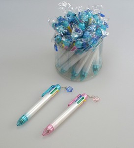 Stationery 6 Colors Ballpoint Pen Star Parts Attached Plain Blue