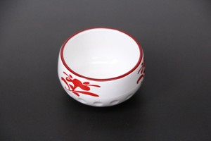 Plate Spice Tray Red Drawing Echizen Lacquerware