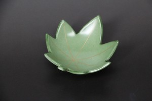 Plate Autumn Leaves Spice Tray Green Echizen Lacquerware