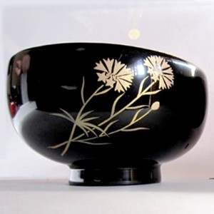 Birth Flower Soup Bowl Echizen Lacquerware
