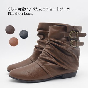 2018 A/W 2 Pcs Belt Short Boots Color Boots