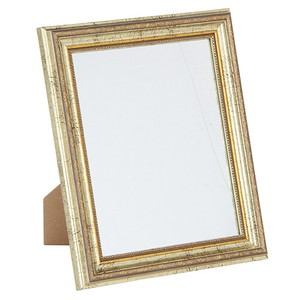Table-top Antique Mirror Torrent Gold White