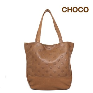 UN SIGNET Leather Dot Tote Bag
