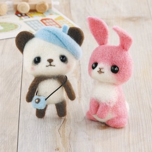 Beret Panda Bear Pink Rabbit DIY Kit