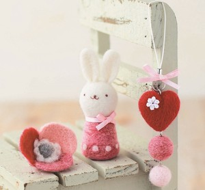 Heart Strap Flower Brooch Rabbit DIY Kit