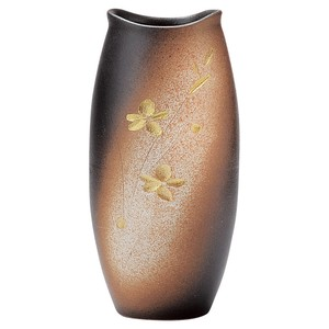 SHIGARAKI Ware Gold Decoration Flower Flower Vase
