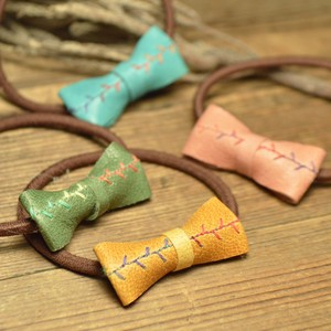 Skin Leather Ribbon Hair Elastic 4 Colors