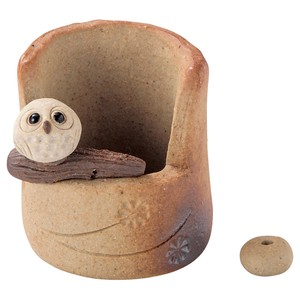 SHIGARAKI Ware Owl Incense holder