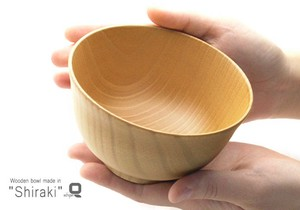 Plain Wood Echizen Lacquerware Wooden Soup Bowl Washoku