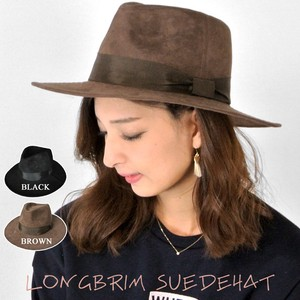 Fake Suede Broad-brimmed Hat Hat Hats & Cap