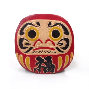 Japanese Style Coin Purse Daruma Red