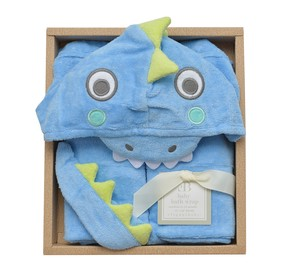 Baby Bathrobe Gift Set Dragon 24 Months