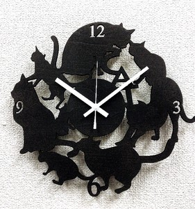 Silhouette Clock Cat