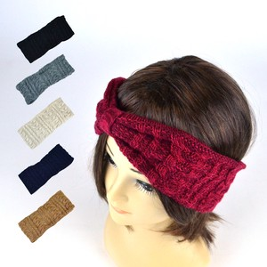 LOVABLE Wool Cable Knitted Turban Young Hats & Cap