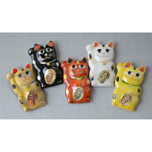 Five Colors Beckoning cat Chopstick Rest
