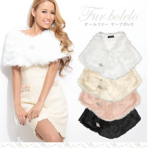 Brooch Attached All Fur Cape Bolero