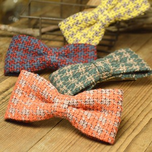 Weaving Grid Pattern Acrylic Wool Material Ribbon Clip 4 Colors Basic