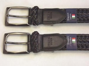Italian Leather Braided Belt