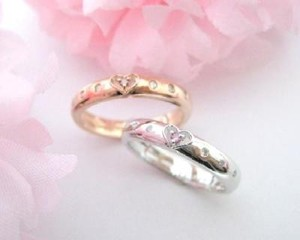 Silver 925 Pink Diamond White Diamond Rich Heart Ring