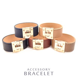 MAGGIO Wide Leather Bracelet Leather Pleasant