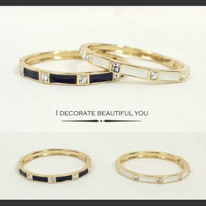 Square Stone Decoration Bangle Bracelet Fancy Goods