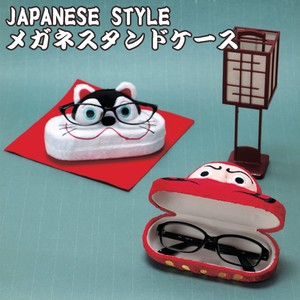 Eyeglass Stand Case Papier-Mache Daruma Beckoning cat Eyeglass Case Good Luck