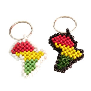 Africa Beads Raster Key Ring