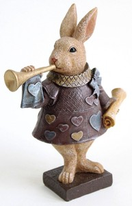 Resin Rabbit Playing Card Ornament