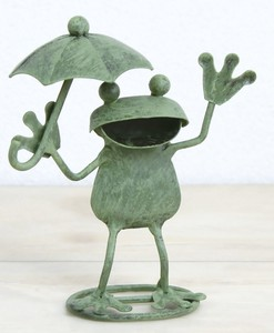 Tinplate Frog Frog Umbrella Ornament