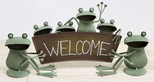 Frog Welcome Stand Ornament