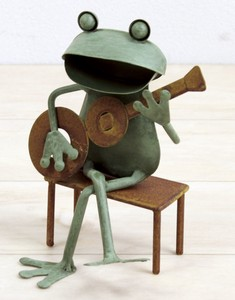 Frog Guitar Chair Ornament