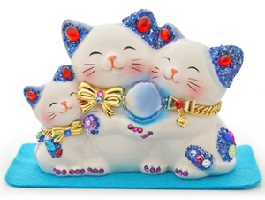 Family Beckoning cat Souvenir Japanese Craft Beckoning Cat Ornament