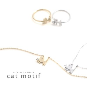 Walk cat Necklace Ring Ring Form